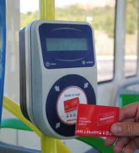 Tarjeta rfid hf bono transporte autobús