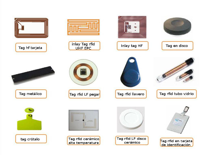 Tags RFID de diversas frecuencias y con diversos encapsulados