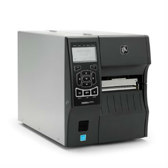 Foto de la impresora industrial rfid de zebra, modelo zt400 rfid